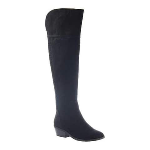 Madeline Women's Turf Over the Knee Boot Black Textile