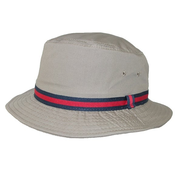 Dorfman Pacific Cotton Water Repellent Traditional Rain Bucket Hat