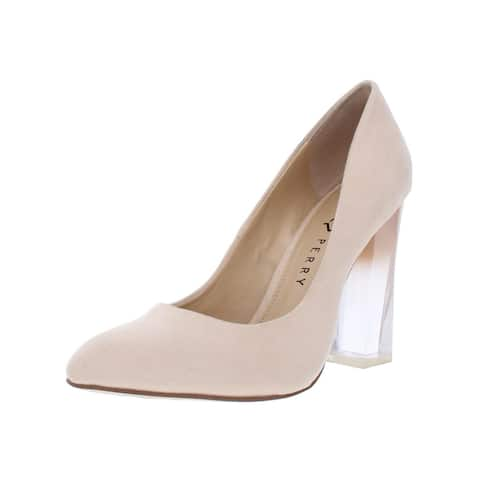 Katy Perry Womens The A.W Pumps Faux Suede Lucite Heel