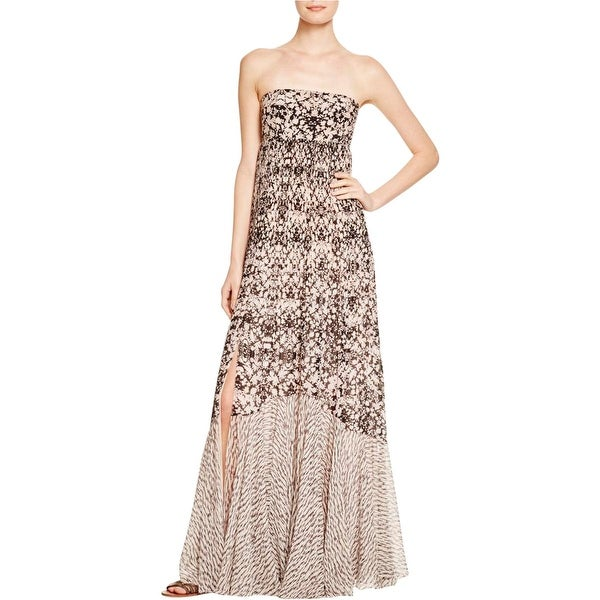 Rebecca Taylor Womens Maxi Dress Silk Printed