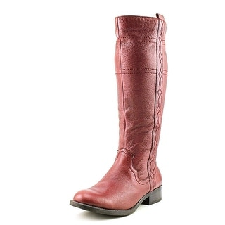 White Mountain Law   Round Toe Leather  Knee High Boot