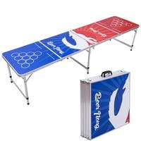 Costway 8FT Portable Folding Beer Pong Table Party Gaming Picnic Camping Indoor Outdoor