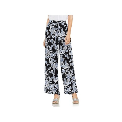 Vince Camuto Womens Casual Pants Crepe Floral Print