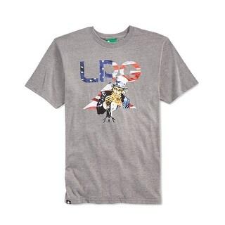 LRG NEW Gray Mens Size Medium M Uncle Sam Pizza Flag USA Tee T-Shirt