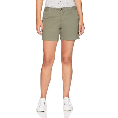 "Essentials Women's 5"" Inseam Solid Chino Short Shorts, -olive, 6"