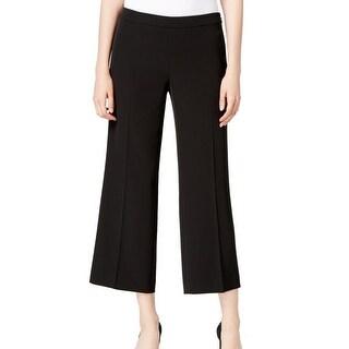 Calvin Klein NEW Black Women's Size 4 Cropped Wide Leg Dress Pants