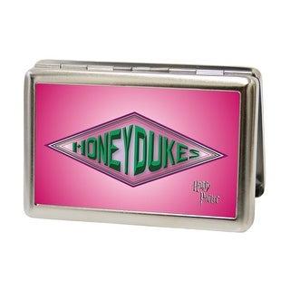 Harry Potter Honeydukes Logo Fcg Pinks Greens Business Card Holder
