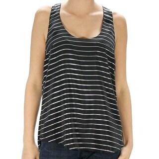 Joie NEW Black White Striped Women's XS Racerback Tank Cami Silk Top