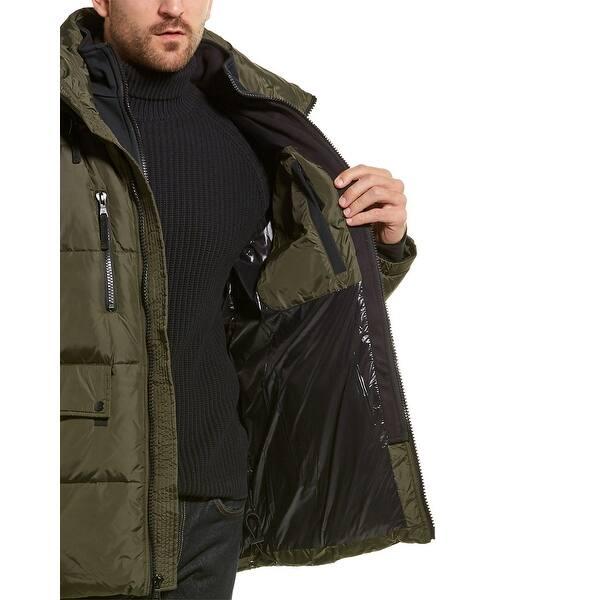 S13 Mens Ashton Mid Length Down Puffer Coat