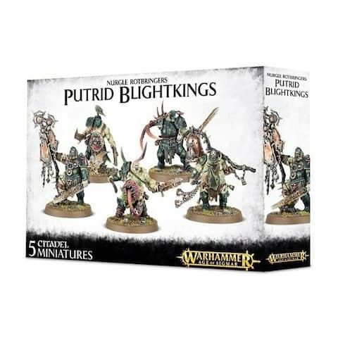 Warhammer 40k Model Miniatures - Nurgle Putrid Blightkings - Multi