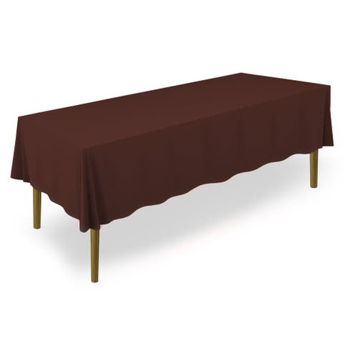 "60 x 102"" Premium Rectangular Polyester Tablecloth - Chocolate by - 60 x 102 inches"