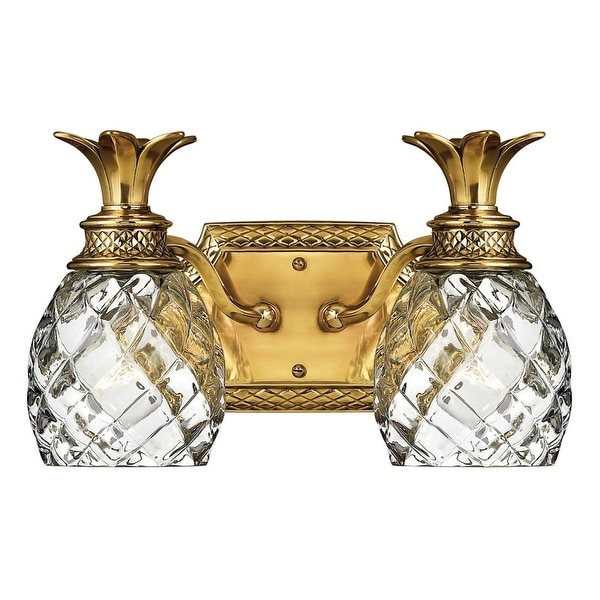 """Hinkley Lighting H5312 2-Light 13"""" Width Bathroom Vanity Light from the Plantation Collection - N/A"""