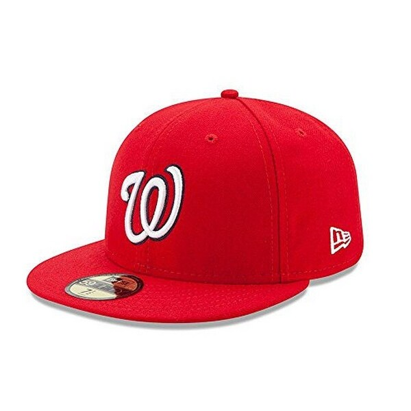 info for f0eab 6924f Shop New Era Mens 59Fifty Washington Nationals Mlb 2017 Authentic  Collection Fitted Cap, Adult - Red - Free Shipping On Orders Over  45 -  Overstock - ...