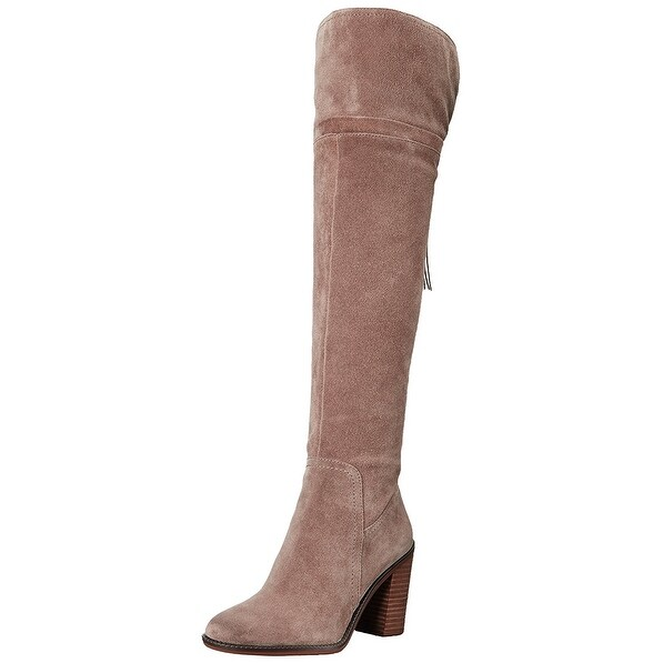 Franco Sarto Womens Eckhart Leather Closed Toe Knee High Fashion Boots
