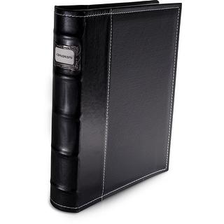Bellagio-Italia Black Leather CD/DVD Binder Holds 32 discs.