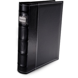 Bellagio-Italia Black Leather CD/DVD Binder Holds 48 discs.