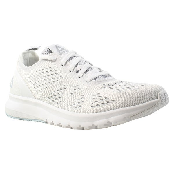 328147aeca8d Shop Reebok Womens Print Smooth Clip Ultk White Running Shoes Size ...