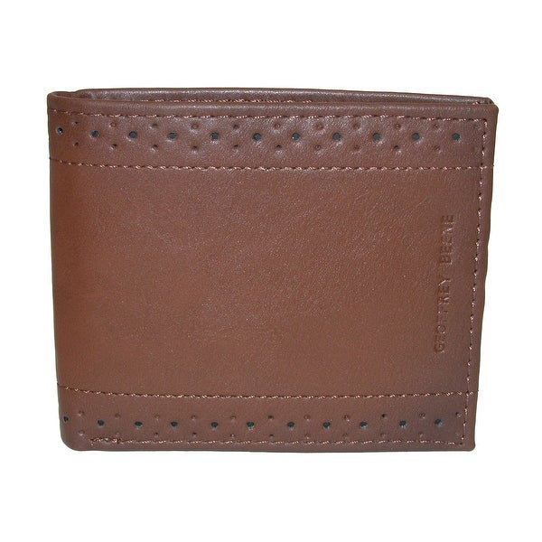Geoffrey Beene Men's RFID Protected Bifold Wallet with Perforated Detail - One size