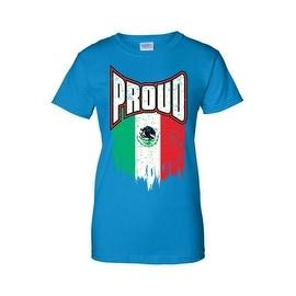 Women's Juniors T-Shirt Proud Mexican Flag 5 De Mayo Mariachi Tequila Tee S-2XL (Option: Xxl)