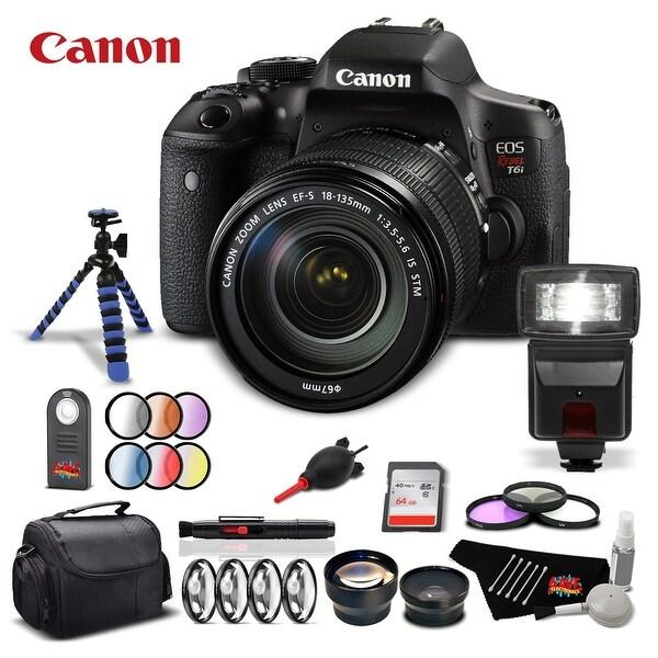 Canon Rebel T6i Camera + 18-135mm Lens Starter Kit