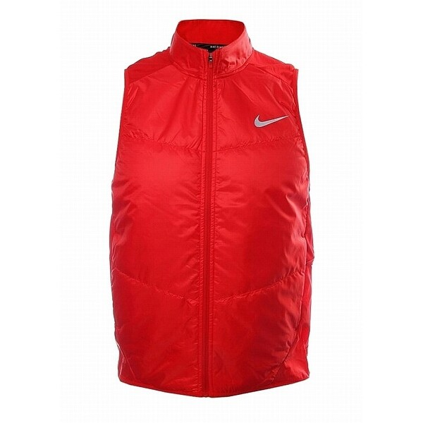 96e1dc0f7e9c Shop Nike University Red Mens XL Vest Full-Zip Mock-Neck Puffer Jacket -  Free Shipping Today - Overstock - 21693503