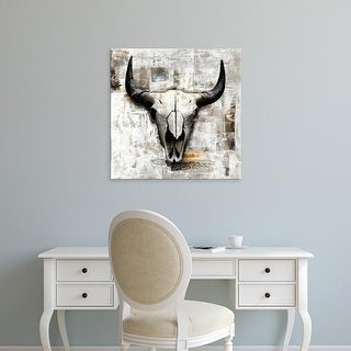 Easy Art Prints GraphINC's 'White Cowskull' Premium Canvas Art
