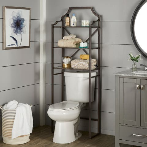 Bryony Glass and Metal Bathroom Shelves by iNSPIRE Q Classic