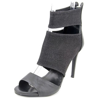 Guess Cayen Peep-Toe Synthetic Heels