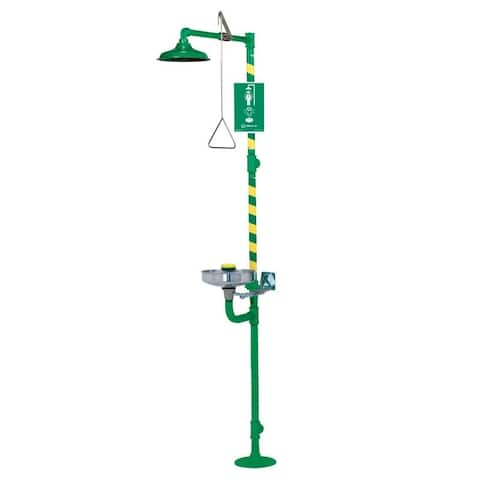 Haws 8300CRP-8309CRP Corrosion-resistant, coated combination shower & eye/face wash with AXION MSR eye/face wash and shower