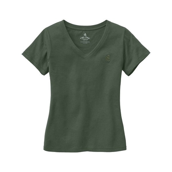 Legendary Whitetails Ladies Signature Buck V-Neck T-Shirt