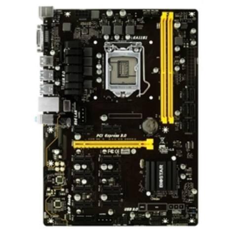 Biostar Motherboard TB250-BTC PRO Core i7/i5/i3 LGA1151 B250 DDR4 SATA PCI Express USB ATX Retail