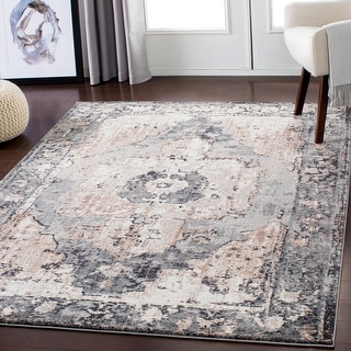 Link to Amalia Distressed Medallion Area Rug Similar Items in Transitional Rugs