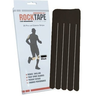 RockTape Precut Edema Strips - Black