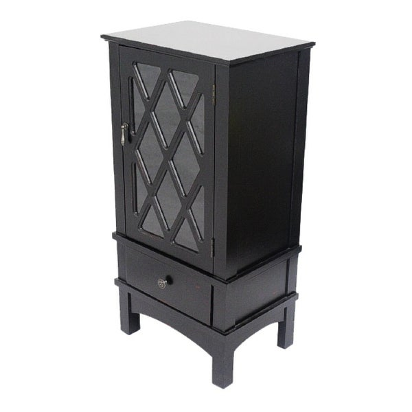 Glass Kitchen Cabinet Door Inserts: Shop 1-Door, 1-Drawer Accent Cabinet W/ Lattice Glass