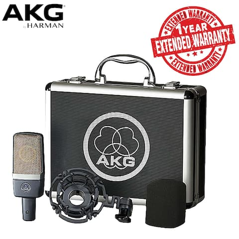 AKGLarge-diaphragm Condenser Microphone Includes Shockmount, Carrying Case