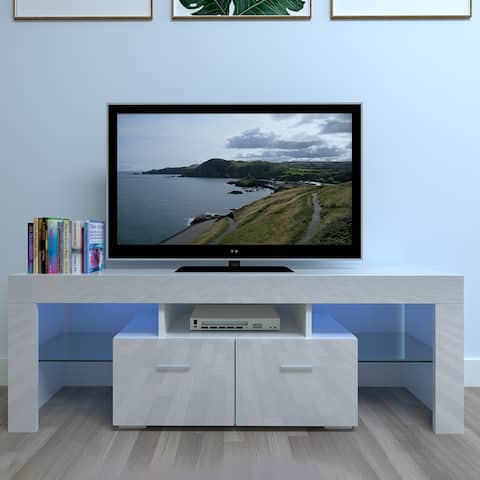 """51"""" Household Decoration LED TV Cabinet with Two Drawers White"""