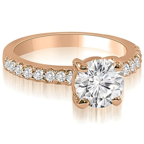 1.18 cttw. 14K Rose Gold Round Cut Diamond Engagement Ring