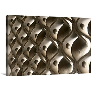 """""""Oblique view across typically ornate wrought iron work of entrance gate."""" Canvas Wall Art"""