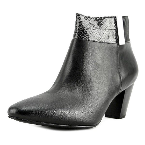 Alfani Palessa Women Round Toe Leather Ankle Boot