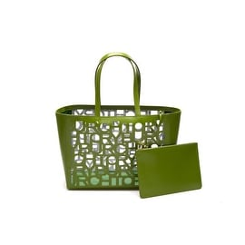 Tory Burch Cut-Out Small Tote Green