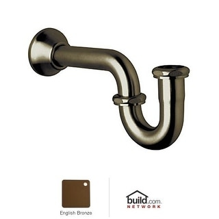 Rohl RPT114 Decorative P-Trap with Bell Flange - Polished Nickel