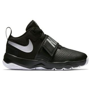 Boy's Nike Team Hustle D 8 (PS) Pre School Basketball Shoe Black/Metallic Silver/White Size (Option: 2.5)