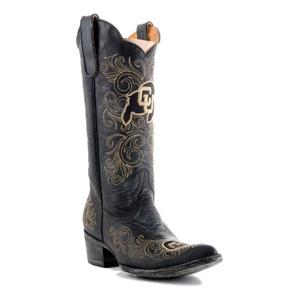 Gameday Boots Womens College Team Colorado Buffs Black Gold