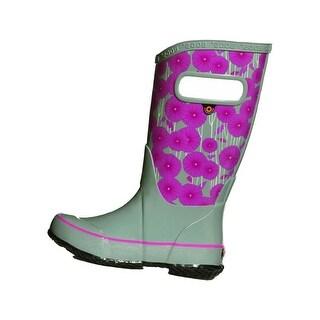 Bogs Outdoor Boots Girls Aster Rain Waterproof Rubber Round Toe 72216