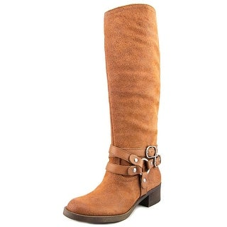 Lucky Brand Hanah Round Toe Leather Mid Calf Boot