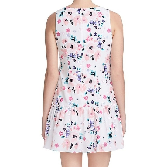 0176bcfd Shop CeCe NEW White Pale Pink Womens Size 4 Floral Print Sheath Dress -  Free Shipping Today - Overstock - 19495713