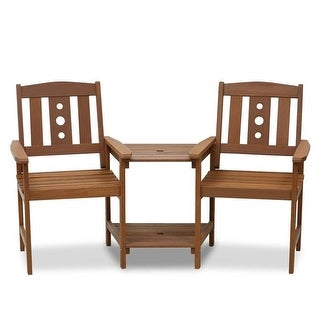 Furinno FG17488 Tioman Outdoor Hardwood Jack & Jill Chair Set