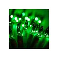 """Wintergreen Lighting 16916 21.1' Long Outdoor Standard 100 Mini Light Holiday Light Strand with 2.5"""" Spacing and White Wire"""