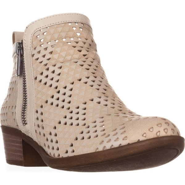 Lucky Basel3 Perforated Ankle Boots, Sandshell - 6.5 us / 36.5 eu