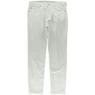 Calvin Klein Mens Slim Fit Slub Casual Pants